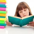 Young girl sitting with book — Stock Photo #5304822