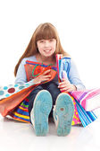 Teen girl with bags — Stock Photo