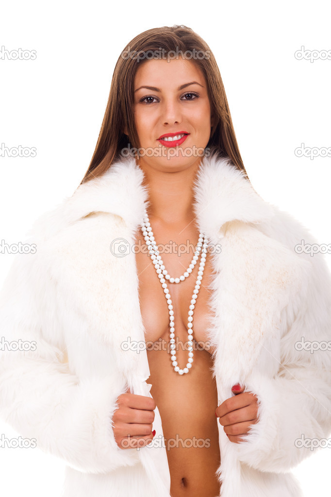 Naked Woman In Coat 67