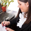 Woman working with documents — Stock Photo #5369359