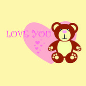 Love you Teddy bear — Stock Vector