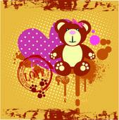 Love you Teddy bear — Stock Vector