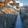 Pipeline laying - Stockfoto