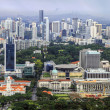 Stock Photo: Singapore City Aerial View