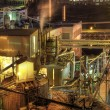Lumber Paper Mill at Night - Stock Photo