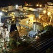 Stock Photo: Lumber Paper Mill at Night 2