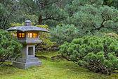 Stone Lantern at Japanese Garden — Stock Photo