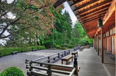 Veranda at the Pavilion in Japanese Garden — Stockfoto