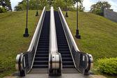 Outdoor Escalators at Fort Canning Hill Park — Stock fotografie