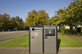 Public Parks Recycling and Trash Bins — Stock Photo
