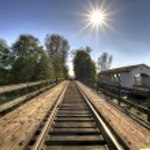 Railroad Bridge Over Thomas Creek 2 — Stock Photo