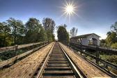 Ponte ferroviária sobre o rio thomas 2 — Foto Stock