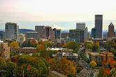Portland Downtown Cityscape in the Fall — Stock Photo