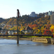 Stock Photo: Hawthorne Bridge Portland Oregon in Fall