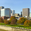 Portland Oregon Downtown Skyline along Waterfront Park — Stock Photo