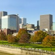 Stock Photo: Portland Oregon Downtown Skyline along Waterfront Park
