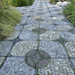 Stone Path in Chinese Garden - Stock Photo