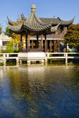 Pavilion and Teahouse at Chinese Garden — Stock Photo