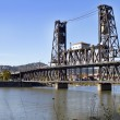 Stock Photo: Steel Bridge over Willamette River