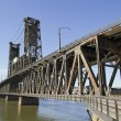 Stock Photo: Steel Bridge over Willamette River 2