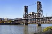 Steel Bridge over Willamette River — Foto Stock