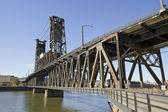Steel Bridge over Willamette River 2 — Foto Stock