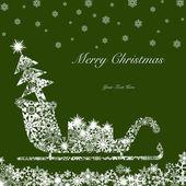 Christmas Santa Sleigh with Tree and Presents — Stock Photo