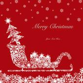 Christmas Santa Sleigh with Tree and Presents 2 — Stock Photo