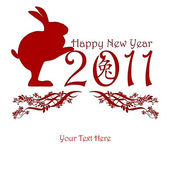 Chinese New Year Rabbit Holding 2011 — Stock Photo