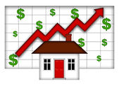 Real Estate Home Values Going Up — Stock Photo