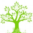 Abstract Tree Silhouette with Leaves and Vines — Stock Photo #4400010