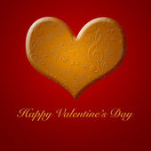 Happy Valentines Day Music Songs from the Gold Heart — ストック写真
