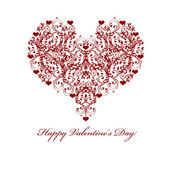 Happy Valentines Day Leaf Vine Hearts Motif — Stock Photo