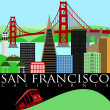 Stock Photo: SFrancisco Golden Gate Bridge and Cable Car Trolley