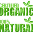 Certified Organic and Natural Symbols - Stock Photo