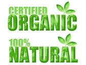 Certified Organic and Natural Symbols — Stock Photo