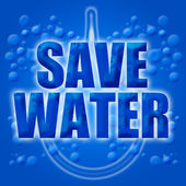 Eco Earth Friendly Save Conserve Water — Stock Photo