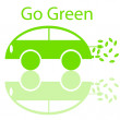Go Green Eco Friendly Electric Car — Stock Photo #4622692