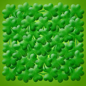 Happy St Patricks Day Shamrock Leaves Background — Stock Photo