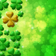 Stock Photo: Four Leaf Clover Shamrock Leaf Bokeh