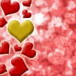 Happy Valentines Heart of Gold Background — Stock fotografie