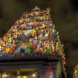 sri mariamman hindu temple singapore at night — Stock Photo