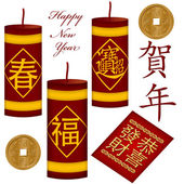 Chinese New Year Firecrackers with Red Packet — Stock Photo