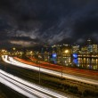 Freeway Light Trails in Downtown Portland Oregon 2 — Stock Photo