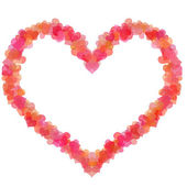 ハート形のボケの幸せなバレンタインの日の心 — ストック写真