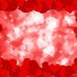 Happy Valentines Day Hearts Border Bokeh — Stock Photo