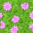 Shamrock Paper Cutting Clover Flowers Background — Stock Photo