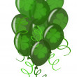 Balloons with Confetti for St. Patricks Day Party — Stock Photo