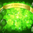 St Patricks Day Two Green Beers Banner Shamrock - Stock Photo