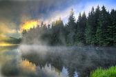 Sunrise Over Trillium Lake Oregon — 图库照片